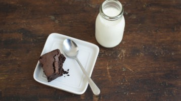 Chocolate Brownie and Milk