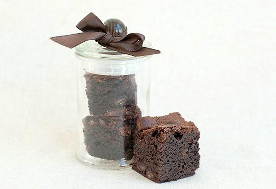 Chocolate Brownie Gift Jar Favour
