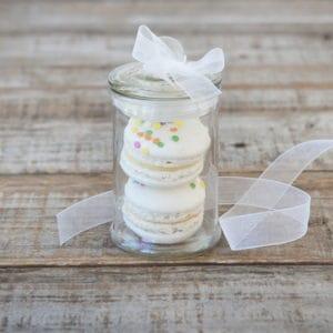 french macaron gift jar