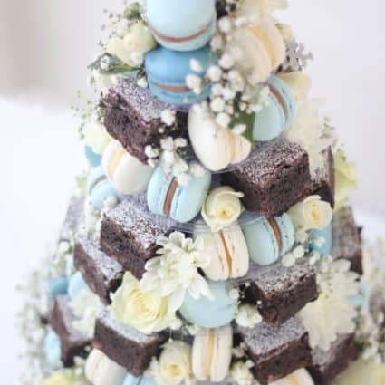 Macaron + Brownie Towers