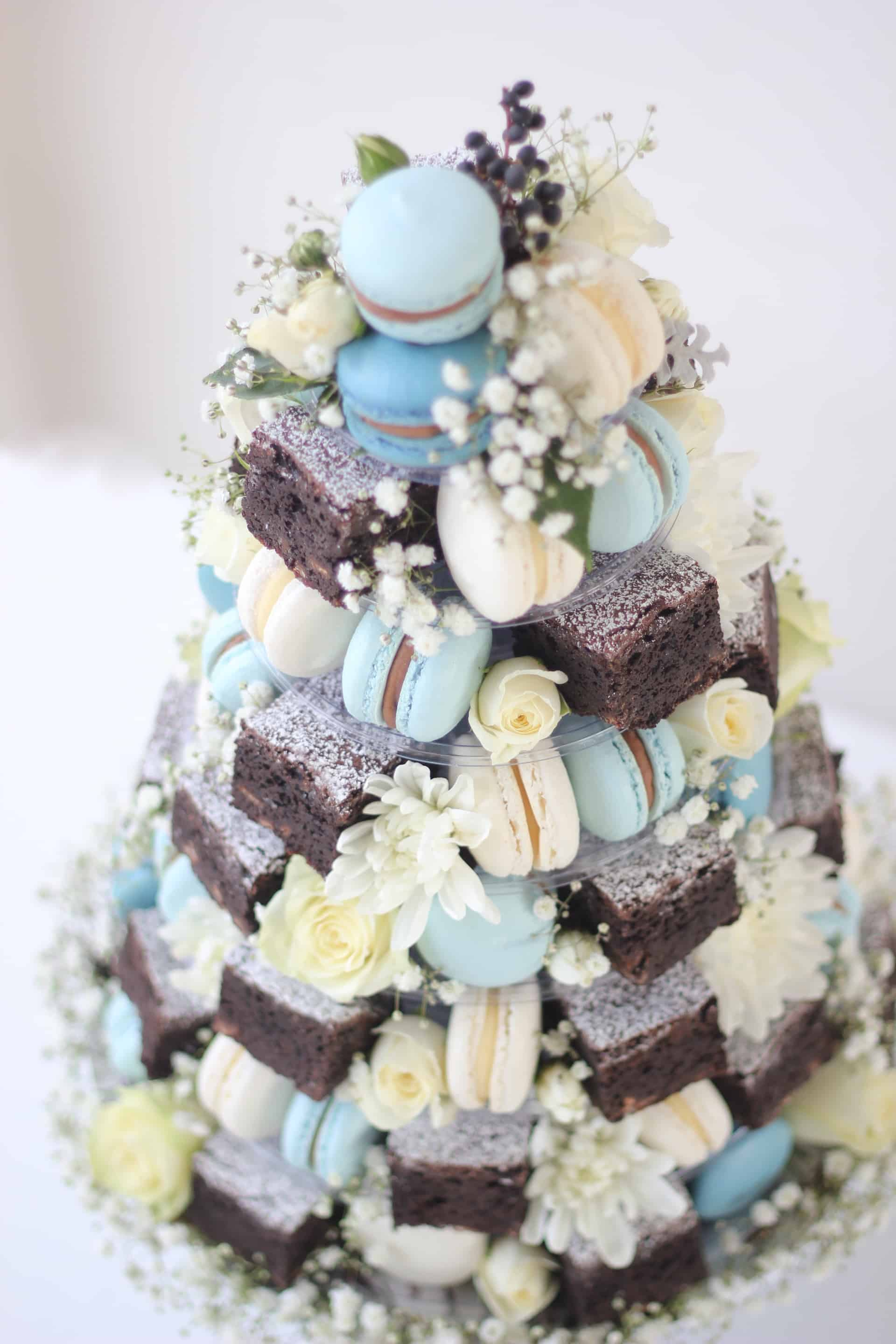 macarons, french macarons, brownies, chocolate, cakes, cake towers