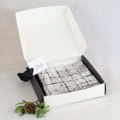 belgian chocolate brownies 25 pack gift box