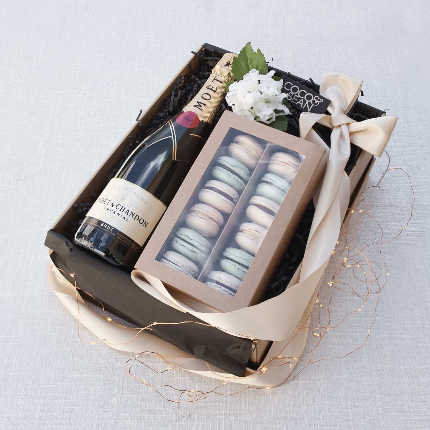french macaron moet chandon luxury gift box hamper