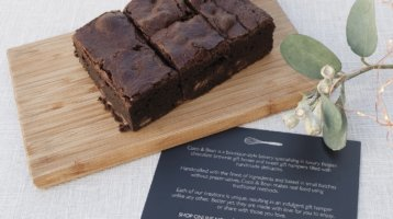 luxury belgian chocolate brownies