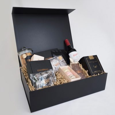 red wine and chocolates gourmet australian made gift hamper