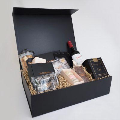 red wine and chocolates gourmet australian made gift hamper
