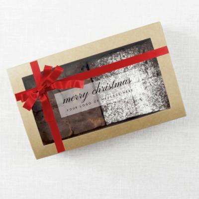 belgian chocloate brownies gift box