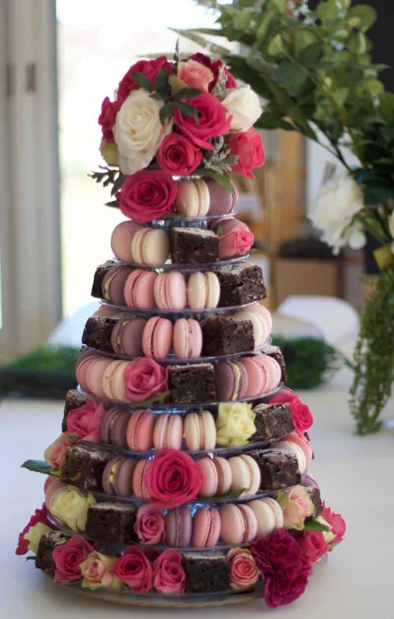 Macaron Brownie Tower No 10