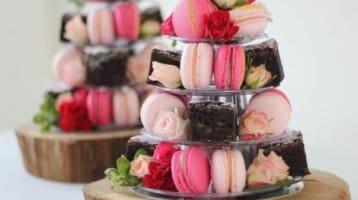 Pink macaron tower sydney event