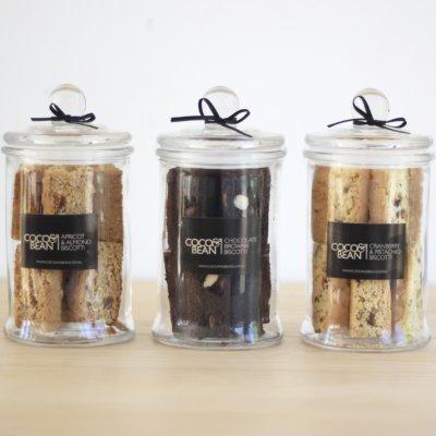 gluten free biscotti gift jar