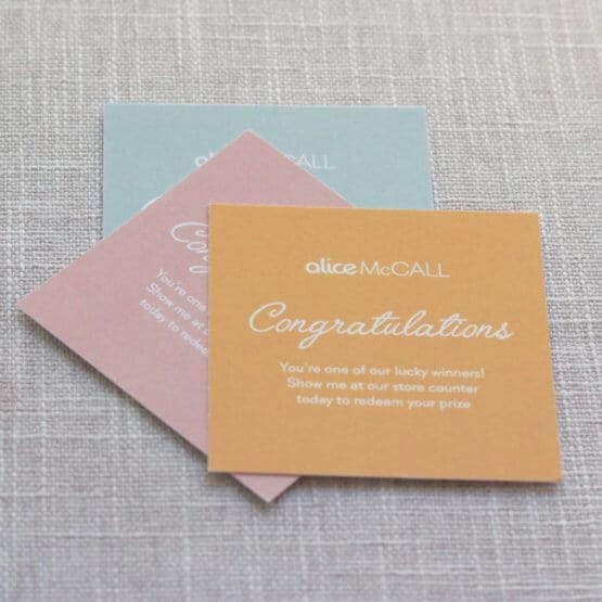 ptinted gift tags