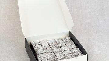 belgian choclate brownies gift box