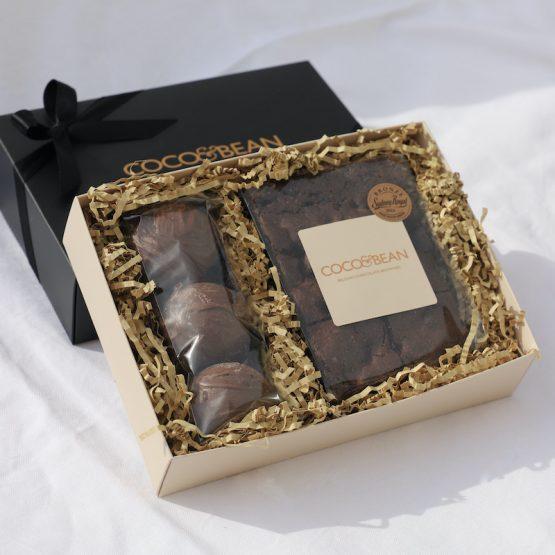 Hot Chocolate Bombs 'n' Brownies Dessert Box